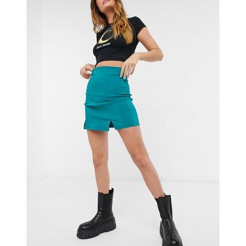 Mini-jupe avec encoche - sarcelle - Topshop - Modalova
