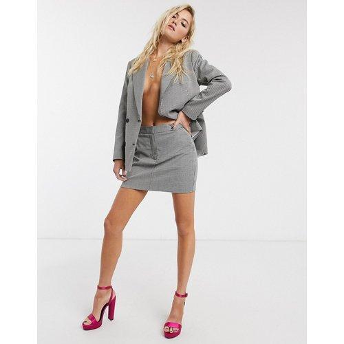 - Mini-jupe d'ensemble à carreaux - et blanc - Topshop - Modalova