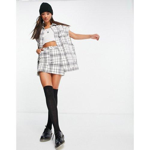 Mini-jupe d'ensemble en jean à carreaux - Topshop - Modalova