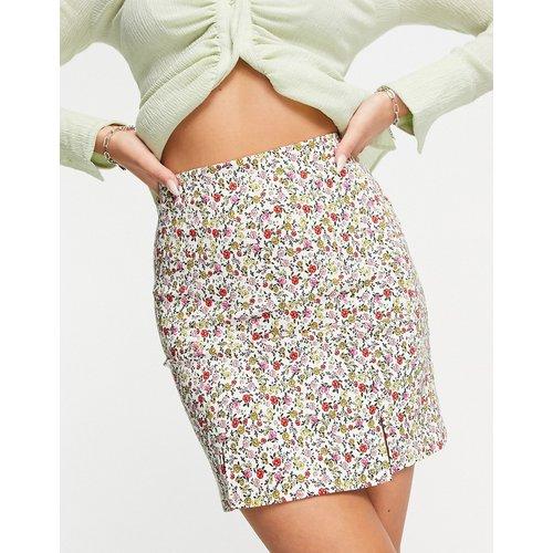 Mini-jupe en bengaline à petites fleurs - Topshop - Modalova