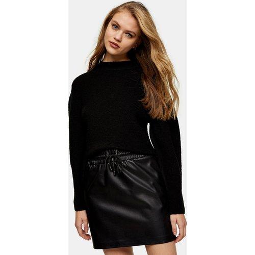 Mini-jupe en imitation cuir avec cordon de serrage - Topshop - Modalova