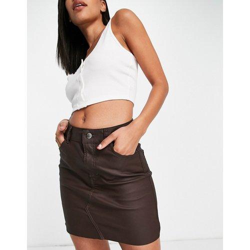 Mini-jupe en jean enduit - Topshop - Modalova