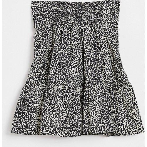Mini-jupe en popeline à motif animal - Topshop - Modalova
