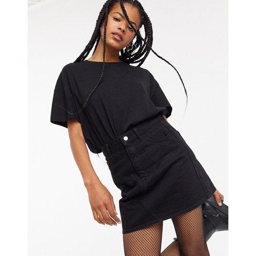 Mini-jupe trapèze taille haute en denim de coton recyclé mélangé - Topshop - Modalova