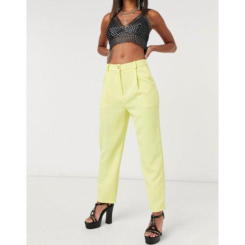 Pantalon droit épuré - Citron - Topshop - Modalova