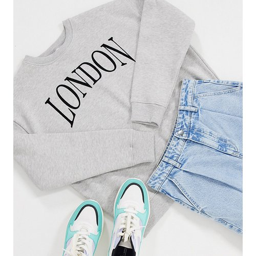London - Sweat-shirt - chiné - Topshop Petite - Modalova