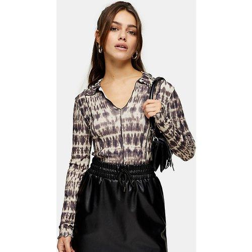 Petite - Mini-jupe en imitation cuir à cordon de serrage - Topshop - Modalova