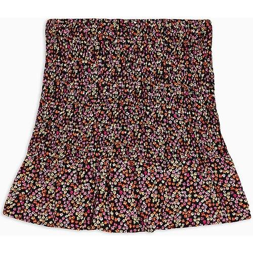 Petite - Mini-jupe froncée à imprimé floral - Topshop - Modalova
