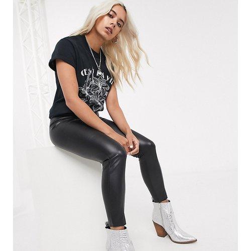Pantalon en imitation cuir - Topshop Petite - Modalova