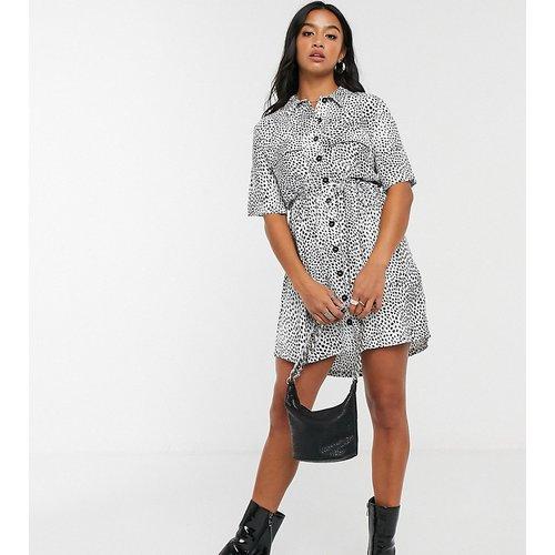 Petite - Robe chemise style grunge - et blanc - Topshop - Modalova