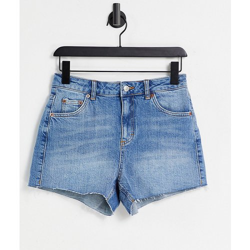 Petite - Short mom en jean de qualité supérieure - moyen - Topshop - Modalova
