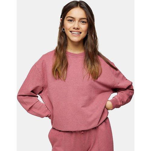 Sweat-shirt délavé à l'acide - thé - Topshop Petite - Modalova