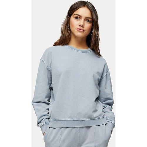 Sweat-shirt d'ensemble délavé à l'acide d'ensemble - Bleu - Topshop Petite - Modalova