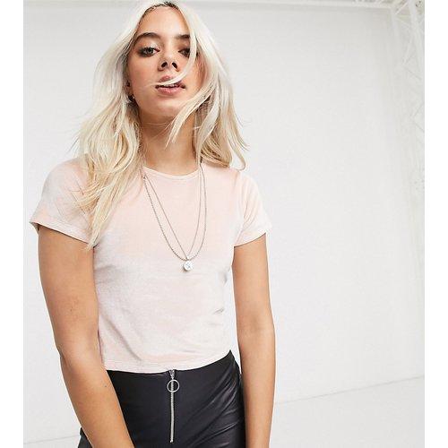 T-shirt crop top - Velours - Topshop Petite - Modalova