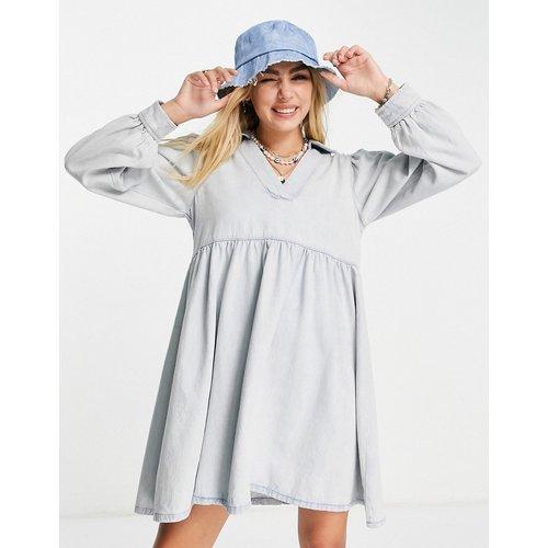 Robe à enfiler en jean délavé - Topshop - Modalova