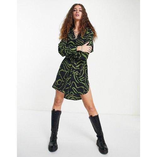 Robe chemise courte à imprimé animal - Topshop - Modalova