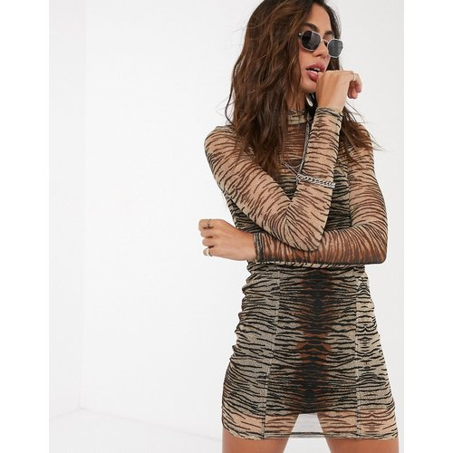 - Robe courte en tulle à imprimé animal - Topshop - Modalova