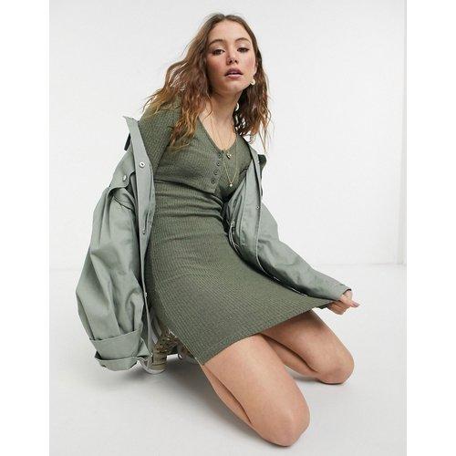 Robe courte moulante façon gilet - Kaki - Topshop - Modalova