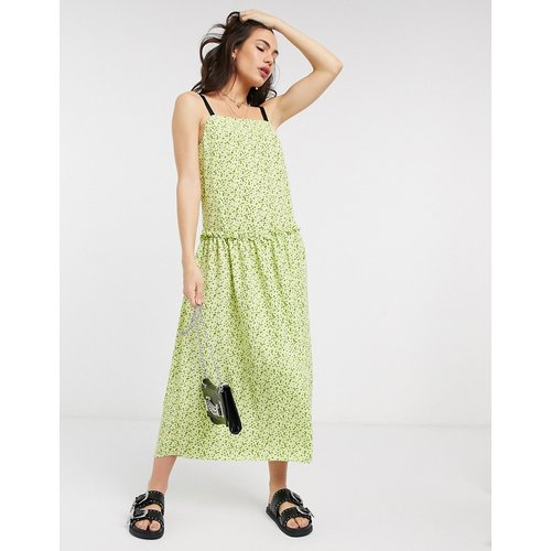 - Robe mi-longue taille basse - citron - Topshop - Modalova