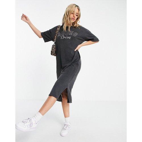 Robe t-shirt mi-longue à motif Rodeo Drive - Anthracite - Topshop - Modalova