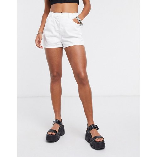 Topshop - Short en jean - Blanc - Topshop - Modalova