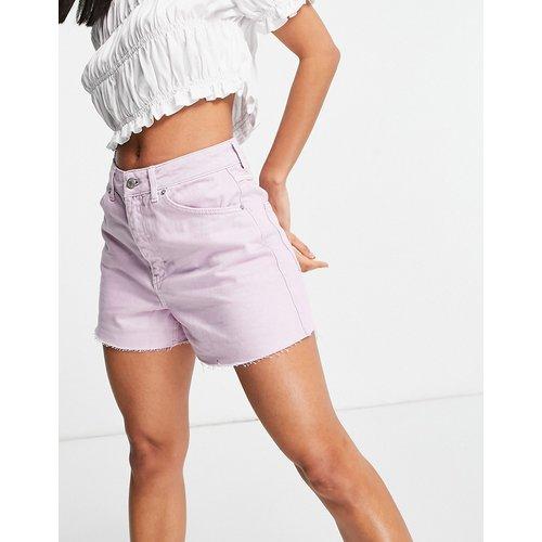 - Short en jean coupe trapèze - Lilas - Topshop - Modalova