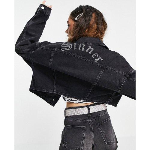Sinner - Veste en jean - délavé - Topshop - Modalova