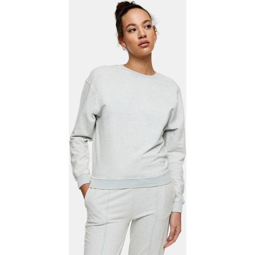 Sweat-shirt délavé à l'acide - sauge - Topshop - Modalova