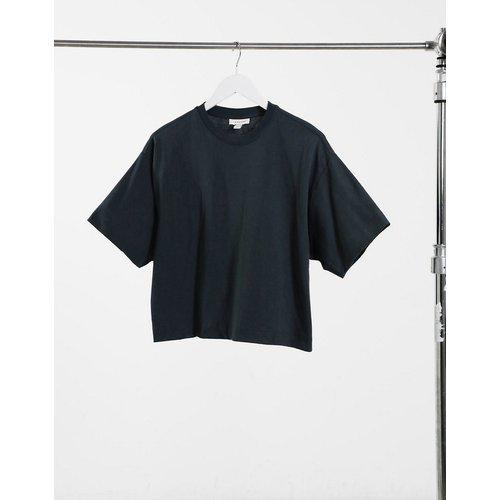 T-shirt coupe carrée - chiné - Topshop - Modalova