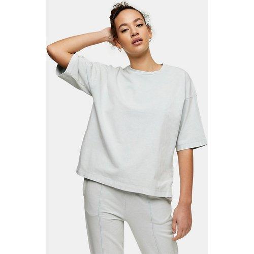 T-shirt oversize délavé à l'acide - sauge - Topshop - Modalova