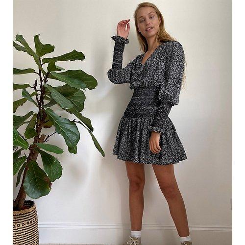 Robe courte avec taille froncée - Imprimé monochrome - Topshop Tall - Modalova