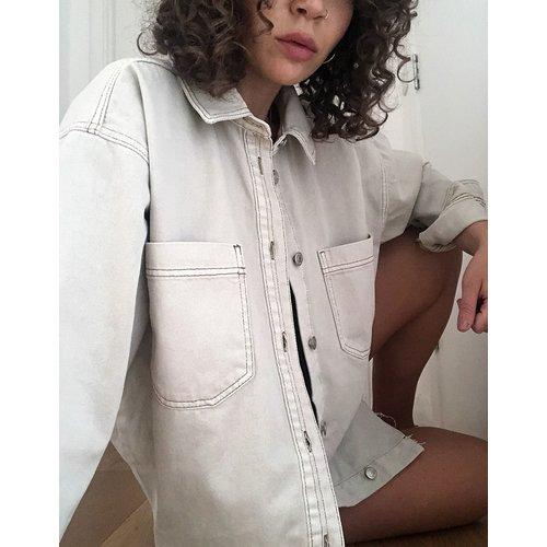 Veste chemise en jean - Topshop - Modalova
