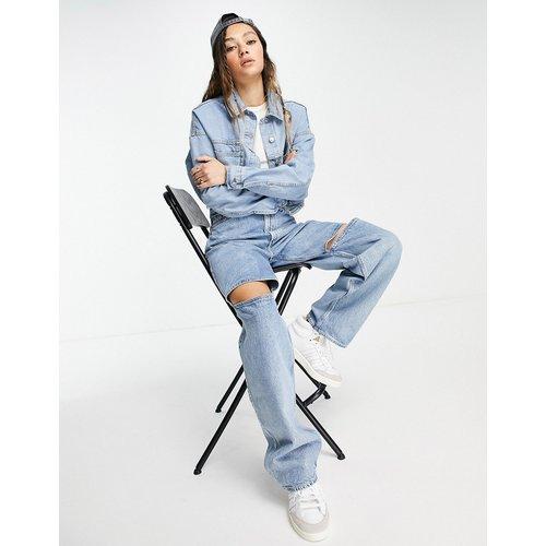 Veste courte en jean - Délavage moyen - Topshop - Modalova