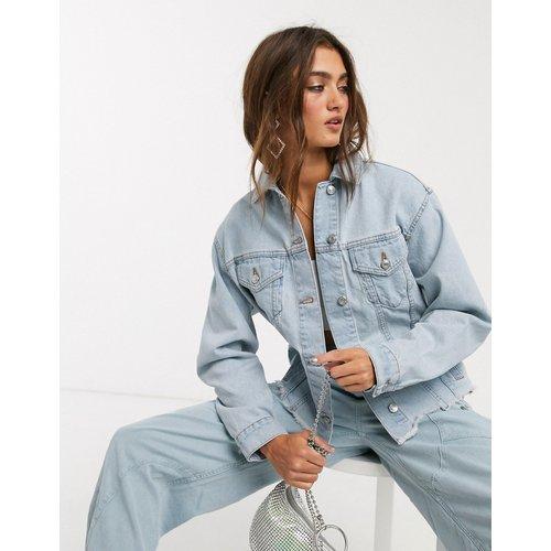 Veste en jean délavée à bords bruts - Topshop - Modalova