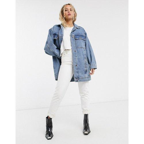 Veste en jean ultra oversize - délavé moyen - Topshop - Modalova