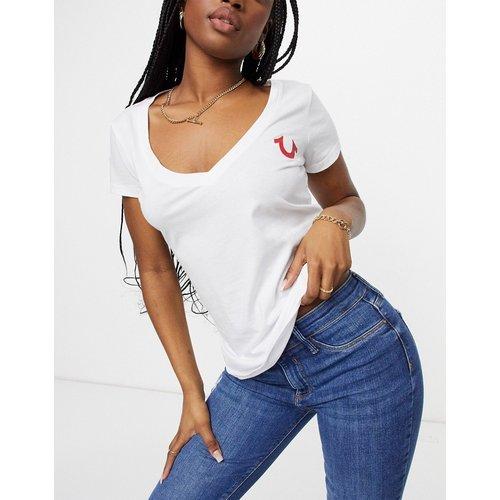 Ego - T-shirt ajusté à col V - True Religion - Modalova