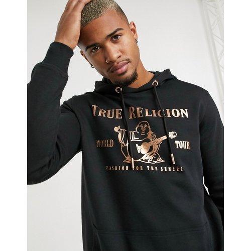 Hoodie avec logo sur le devant - avec du doré - True Religion - Modalova