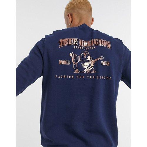 Sweat-shirt avec logo imprimé dans le dos - Bleu marine - True Religion - Modalova