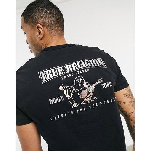 T-shirt à imprimé Bouddha métallisé dans le dos - True Religion - Modalova