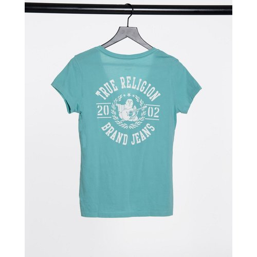 T-shirt à logo avec col en V échancré - True Religion - Modalova
