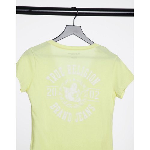 T-shirt à logo avec col V échancré - True Religion - Modalova