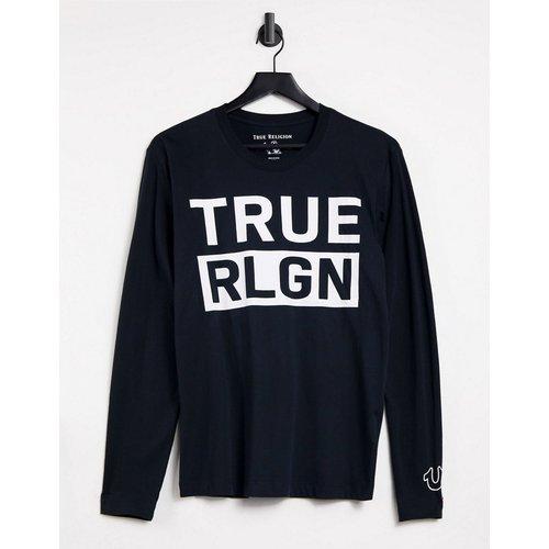 T-shirt à manches longues avec logo sur le devant - True Religion - Modalova