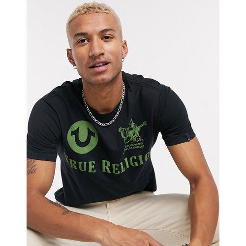 T-shirt avec imprimé logo vert au dos - True Religion - Modalova