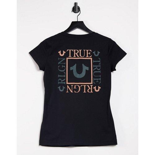 T-shirt col V à logo encadré au dos - True Religion - Modalova