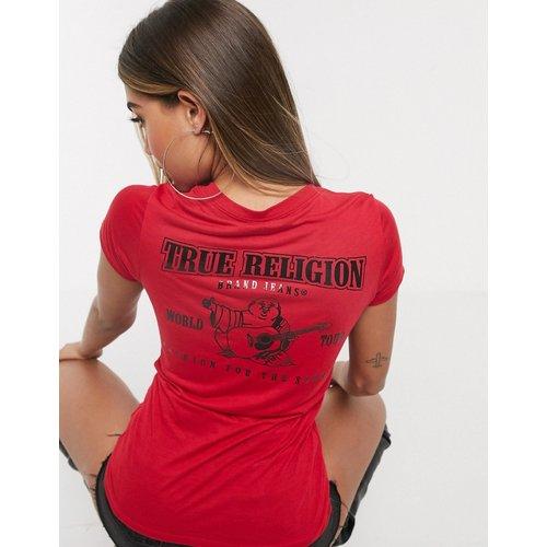 T-shirt col V avec logo dans le dos - True Religion - Modalova