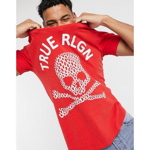 T-shirt ras de cou à imprimé tête de mort - True Religion - Modalova