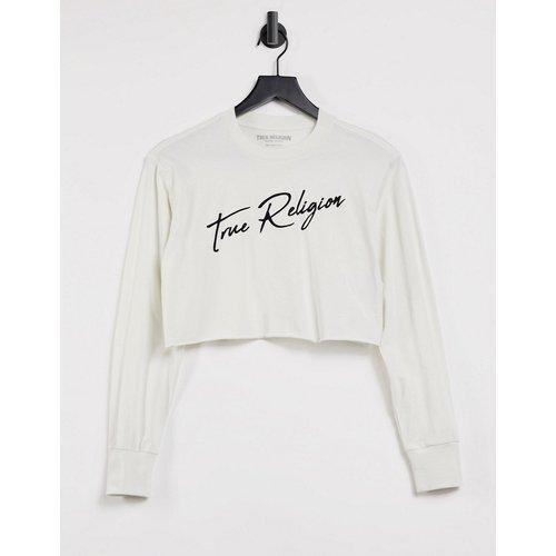 T-shirt ras de cou à manches longues avec logo signature - True Religion - Modalova