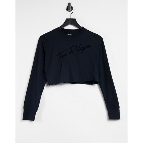 T-shirt ras de cou à manches longues avec logo style signature - True Religion - Modalova