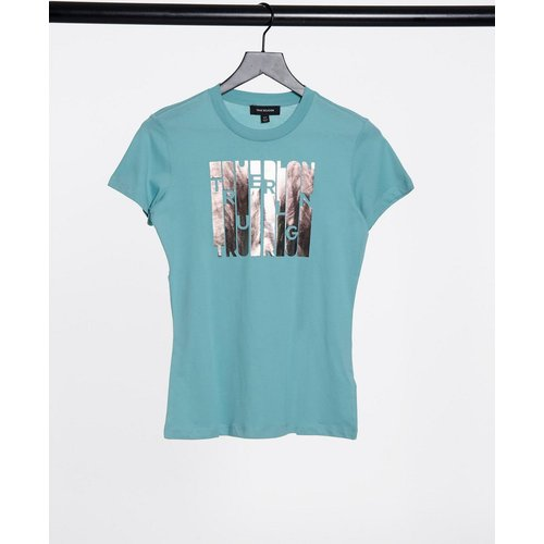 T-shirt ras de cou coupe slim à logo métallisé - True Religion - Modalova