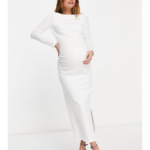 Robe moulante longueur mollet - Ivoire - True Violet Maternity - Modalova